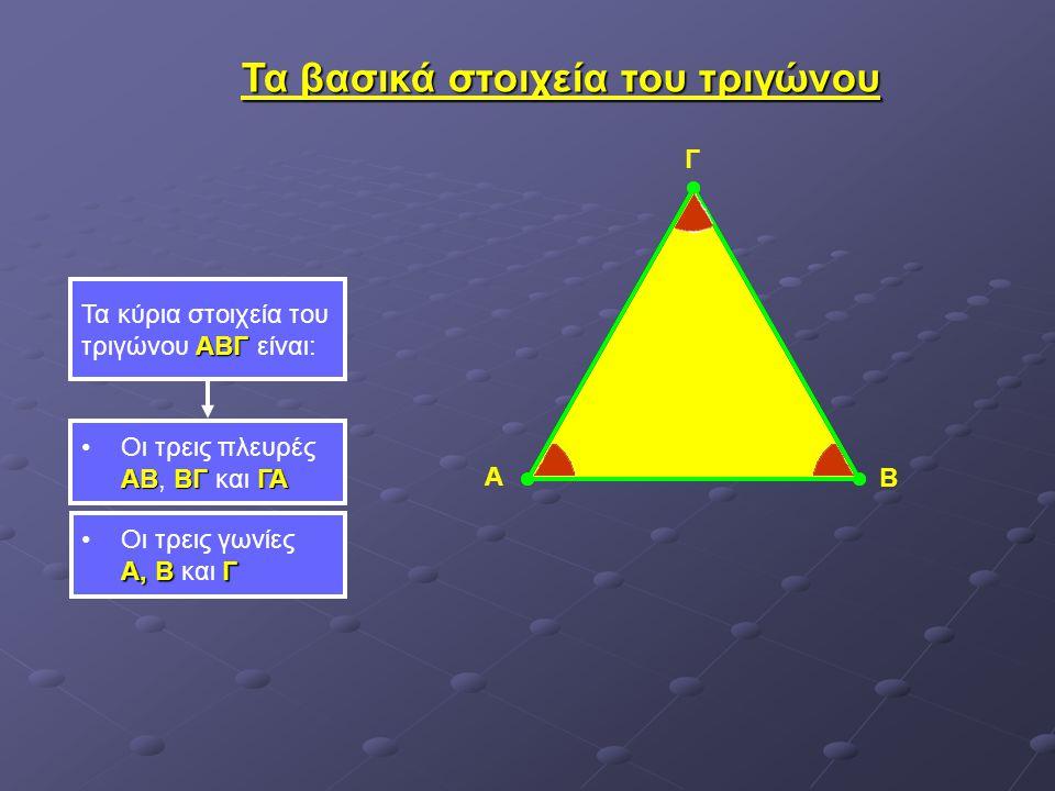 Τα βασικά στοιχεία του τριγώνου