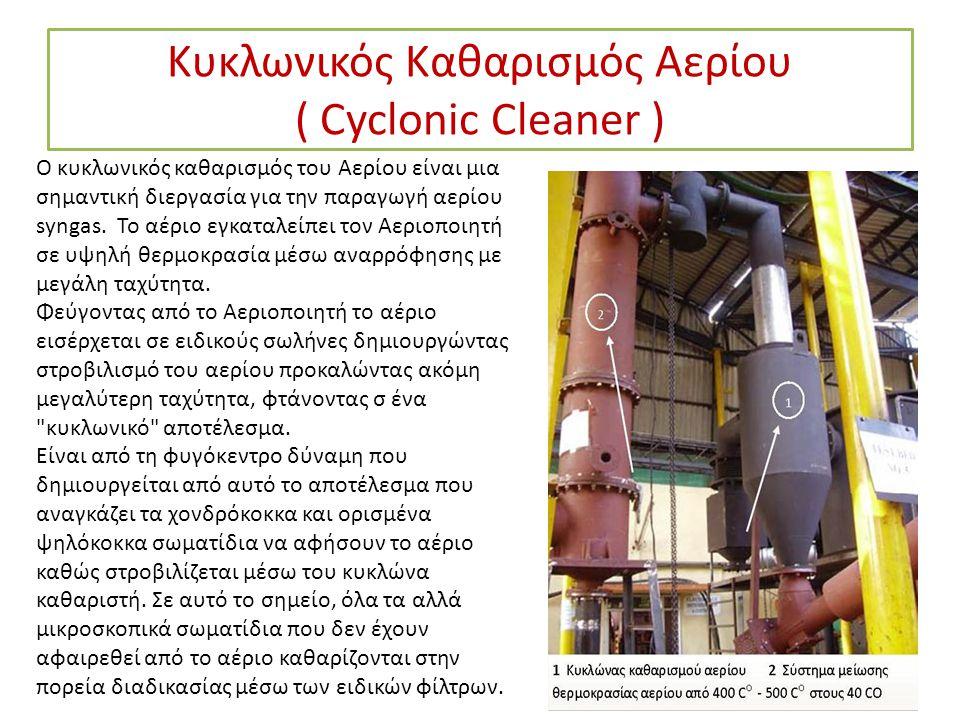 Κυκλωνικός Καθαρισμός Αερίου ( Cyclonic Cleaner )