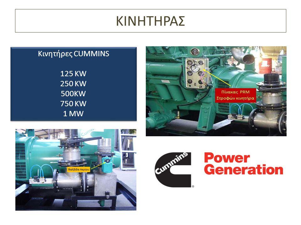 ΚΙΝΗΤΗΡΑΣ Κινητήρες CUMMINS 125 KW 250 KW 500KW 750 KW 1 MW