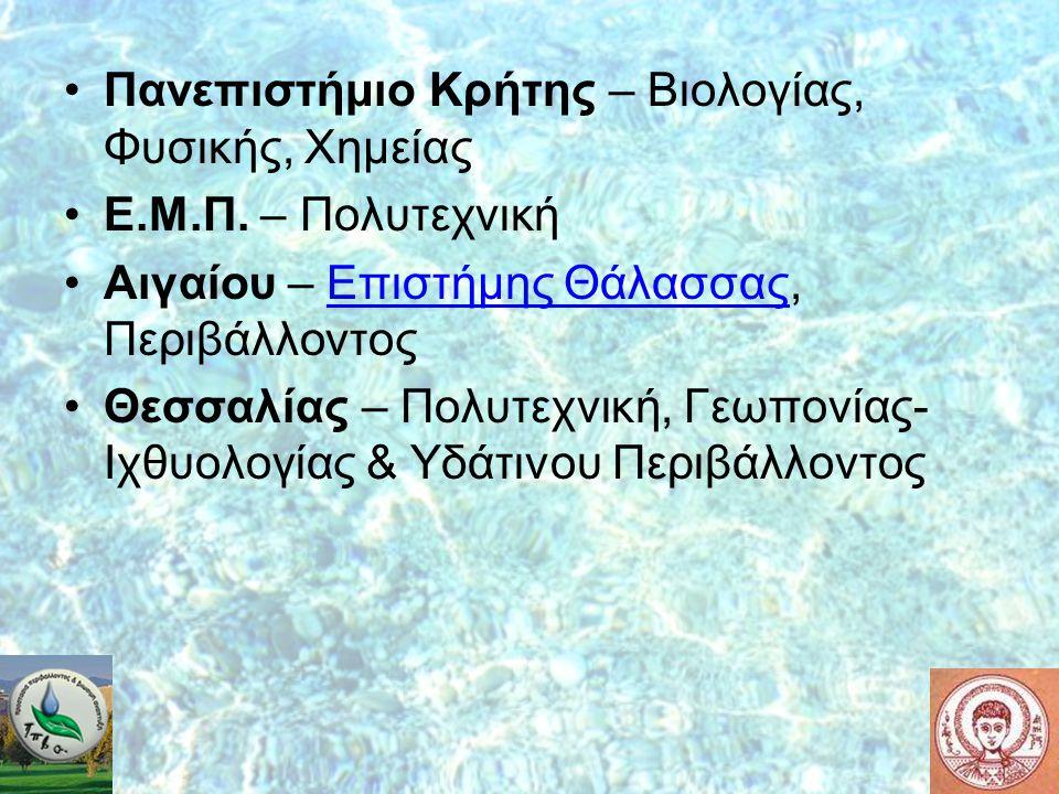 Πανεπιστήμιο Κρήτης – Βιολογίας, Φυσικής, Χημείας