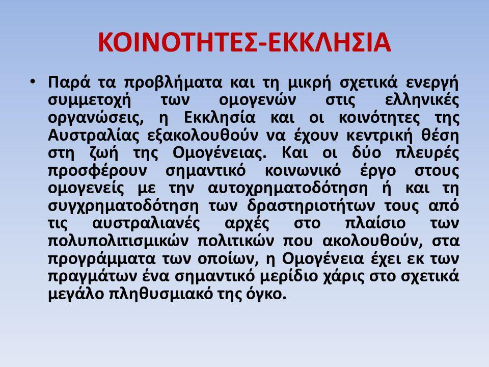 ΚΟΙΝΟΤΗΤΕΣ-ΕΚΚΛΗΣΙΑ