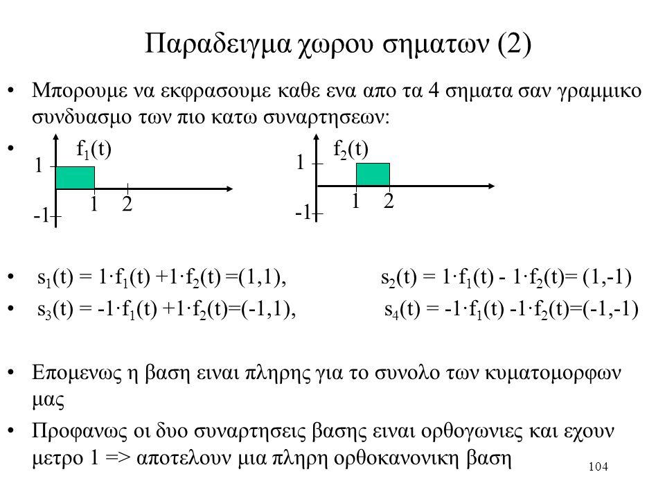Παραδειγμα χωρου σηματων (2)