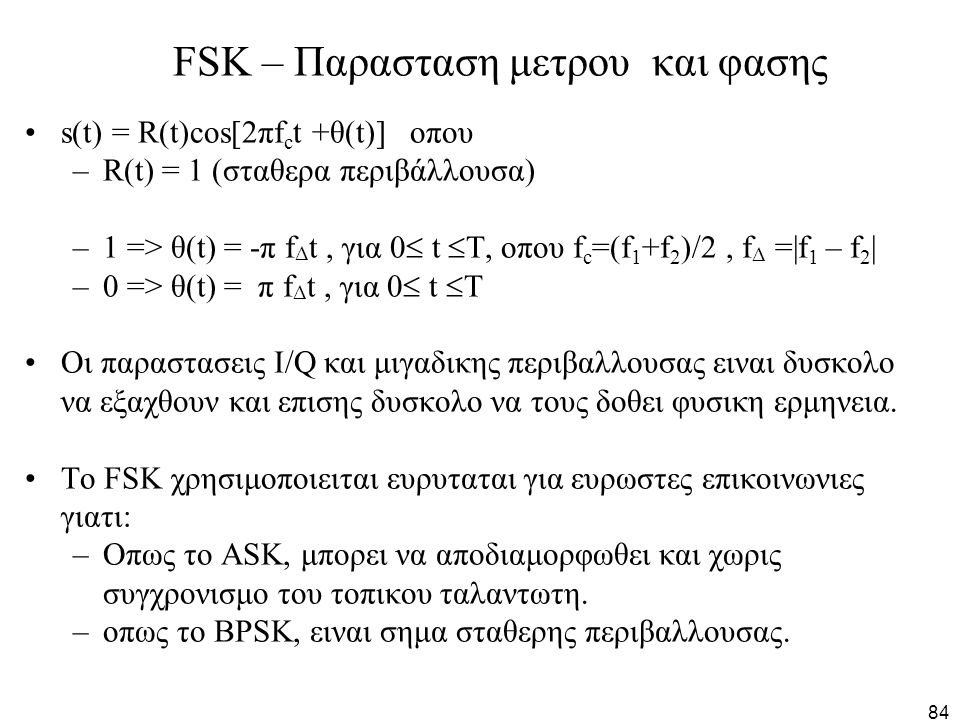 FSK – Παρασταση μετρου και φασης