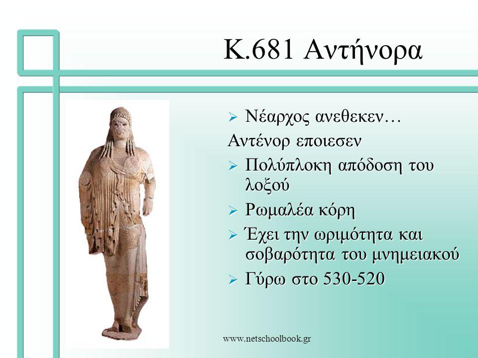 Κ.681 Αντήνορα Νέαρχος ανεθεκεν… Αντένορ εποιεσεν