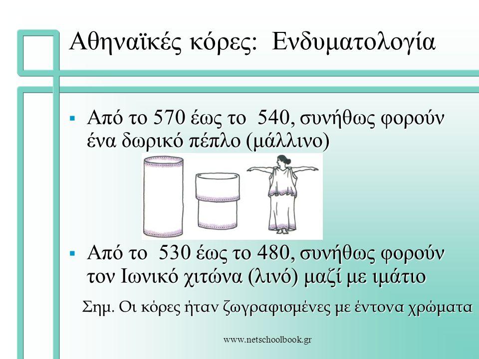 Αθηναϊκές κόρες: Ενδυματολογία