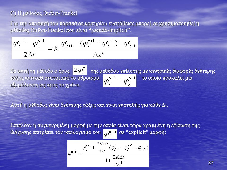 C) Η μέθοδος Dufort-Frankel