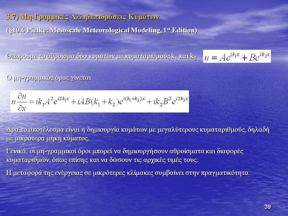 3.7) Μη-Γραμμικές Αλληλεπιδράσεις Κυμάτων