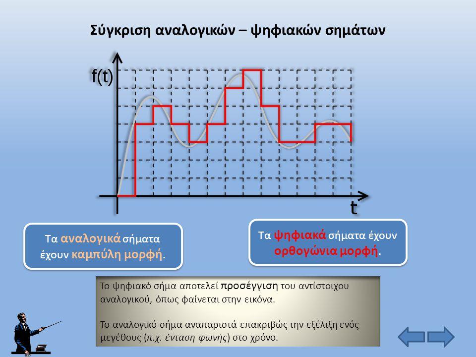 Σύγκριση αναλογικών – ψηφιακών σημάτων