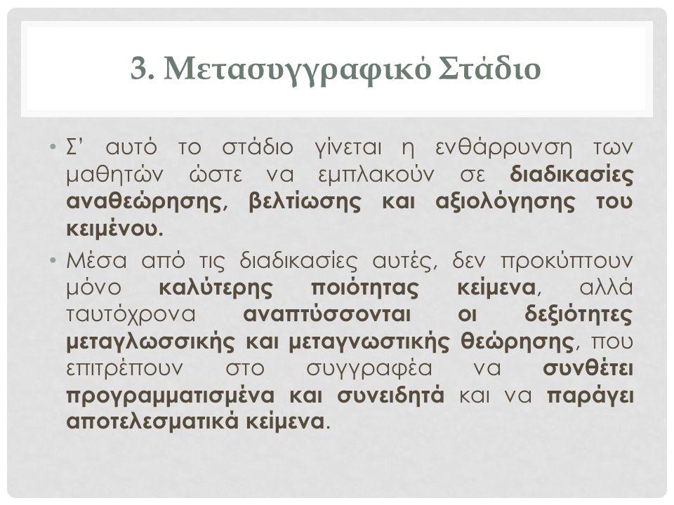 3. Μετασυγγραφικό Στάδιο