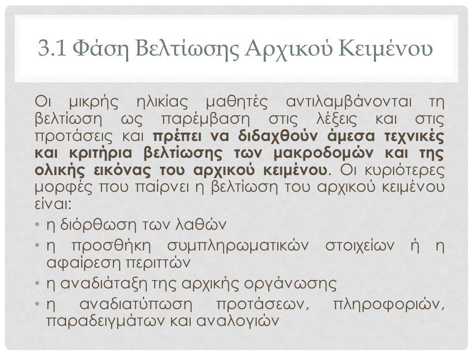 3.1 Φάση Βελτίωσης Αρχικού Κειμένου