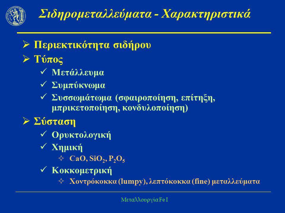 Σιδηρομεταλλεύματα - Χαρακτηριστικά