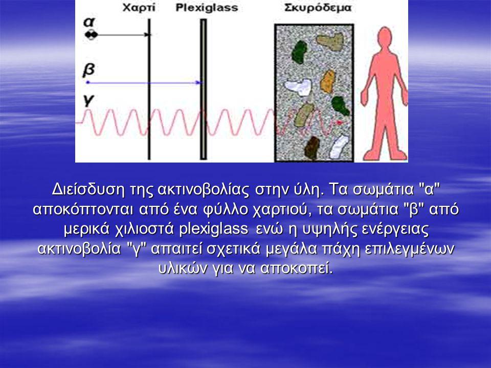 Διείσδυση της ακτινοβολίας στην ύλη