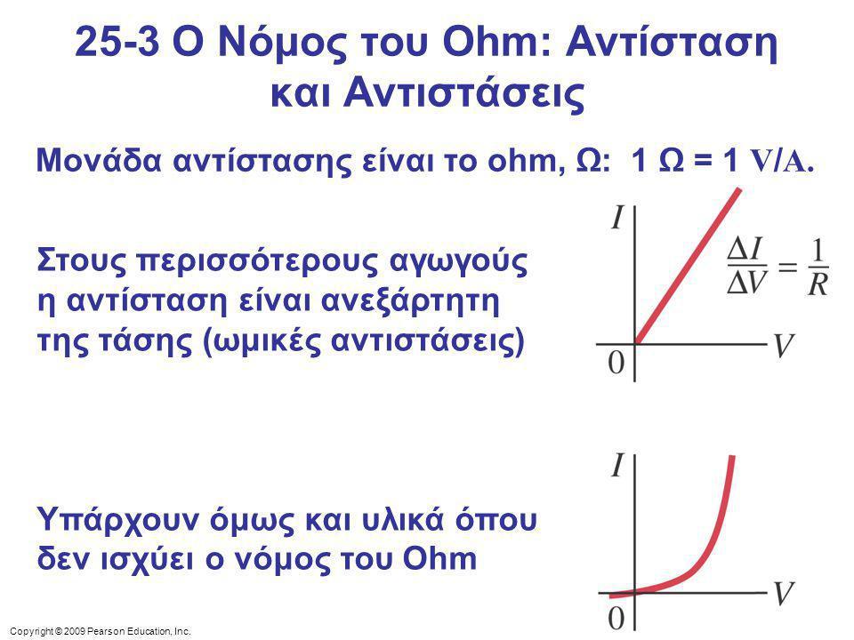 25-3 Ο Νόμος του Ohm: Αντίσταση και Αντιστάσεις