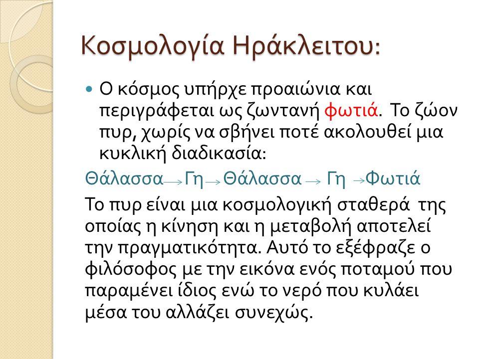 Κοσμολογία Ηράκλειτου: