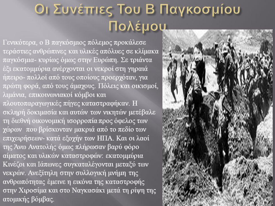 Οι Συνέπιες Του Β Παγκοσμίου Πολέμου