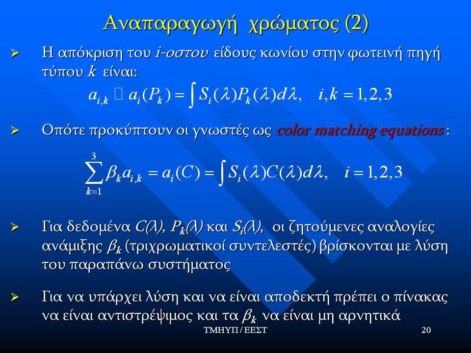 Αναπαραγωγή χρώματος (2)