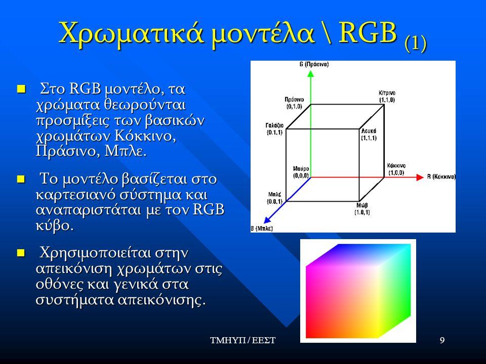 Χρωματικά μοντέλα \ RGB (1)