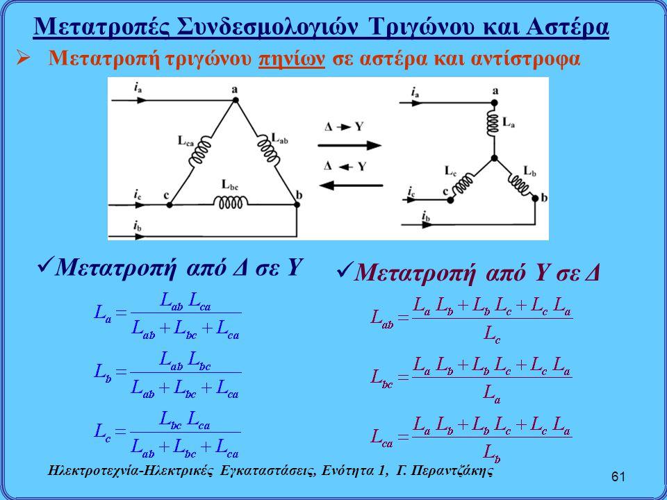 Μετατροπές Συνδεσμολογιών Τριγώνου και Αστέρα