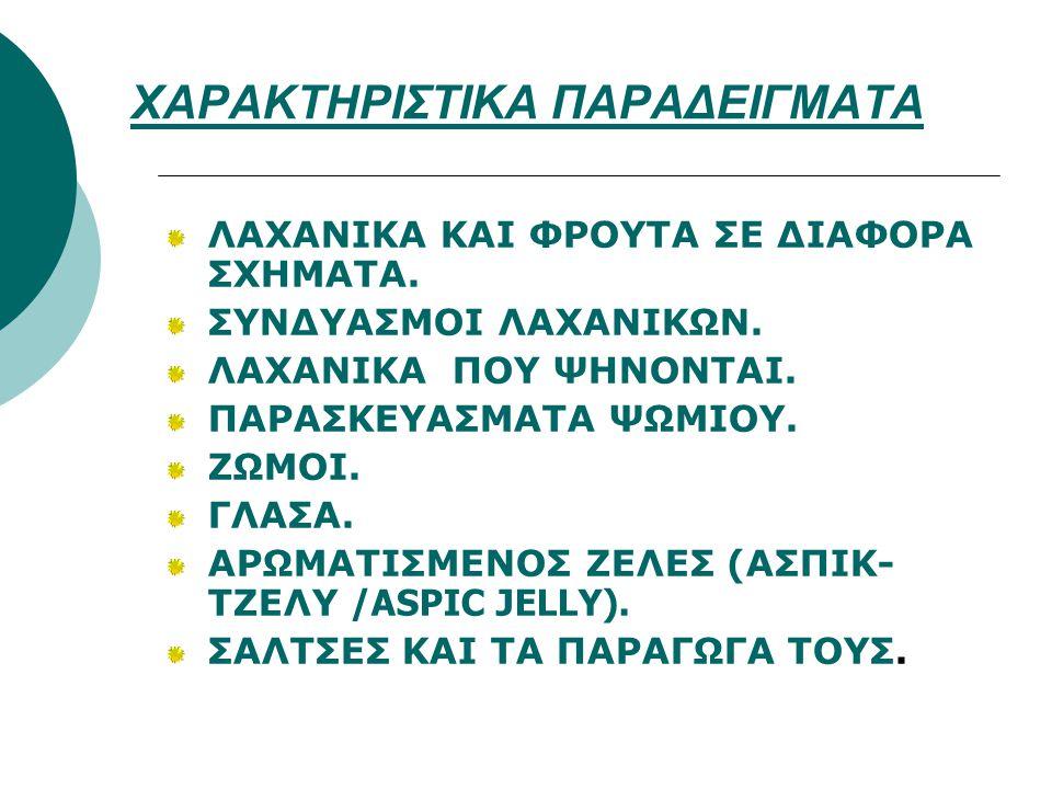 ΧΑΡΑΚΤΗΡΙΣΤΙΚΑ ΠΑΡΑΔΕΙΓΜΑΤΑ