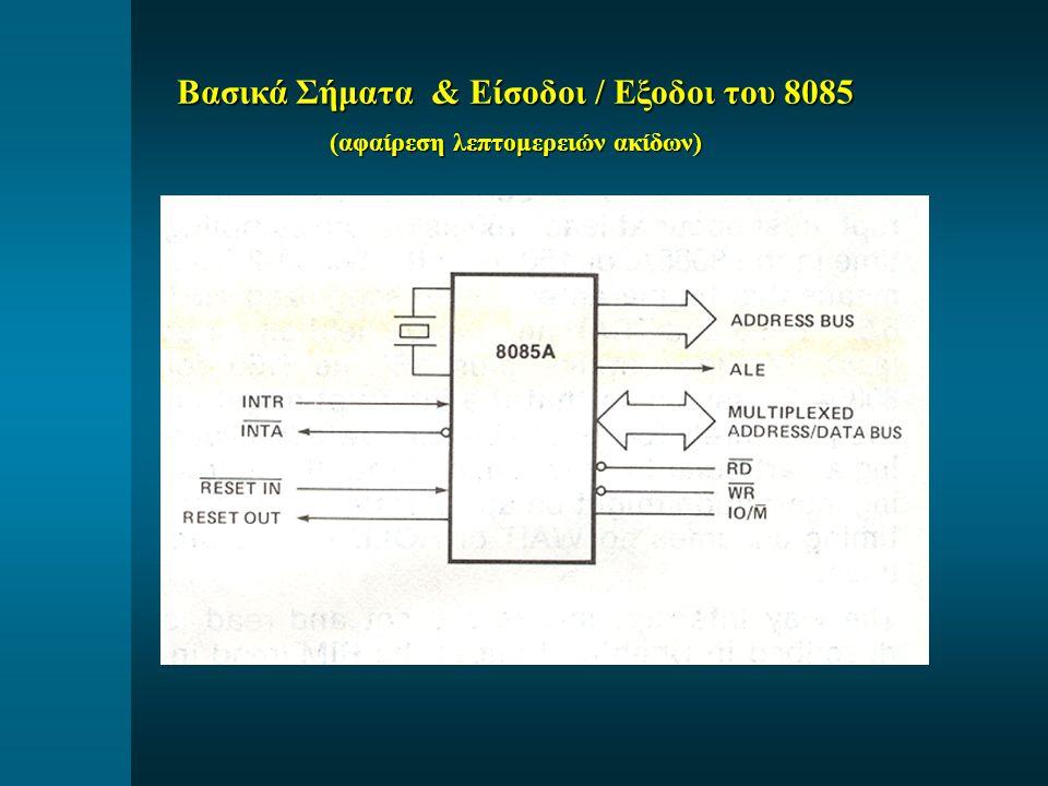 Βασικά Σήματα & Είσοδοι / Εξοδοι του 8085