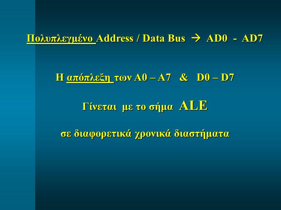 Πολυπλεγμένο Address / Data Bus  AD0 - AD7