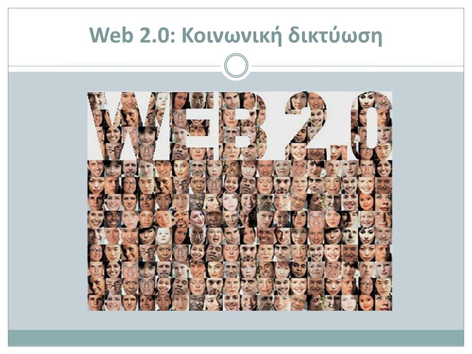 Web 2.0: Κοινωνική δικτύωση