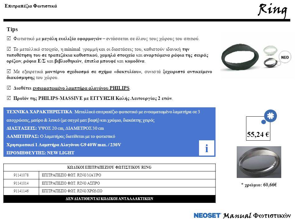 Ring i 55,24 € Manual Φωτιστικών Tips Επιτραπέζια Φωτιστικά