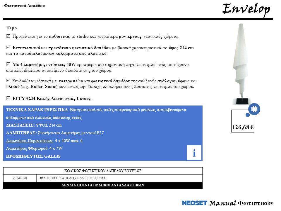 Envelop i Manual Φωτιστικών 126,68 € Tips Φωτιστικά Δαπέδου