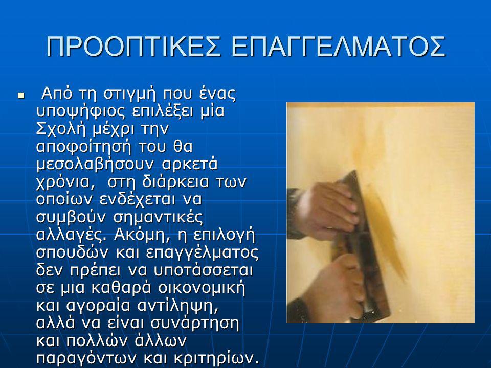 ΠΡΟΟΠΤΙΚΕΣ ΕΠΑΓΓΕΛΜΑΤΟΣ