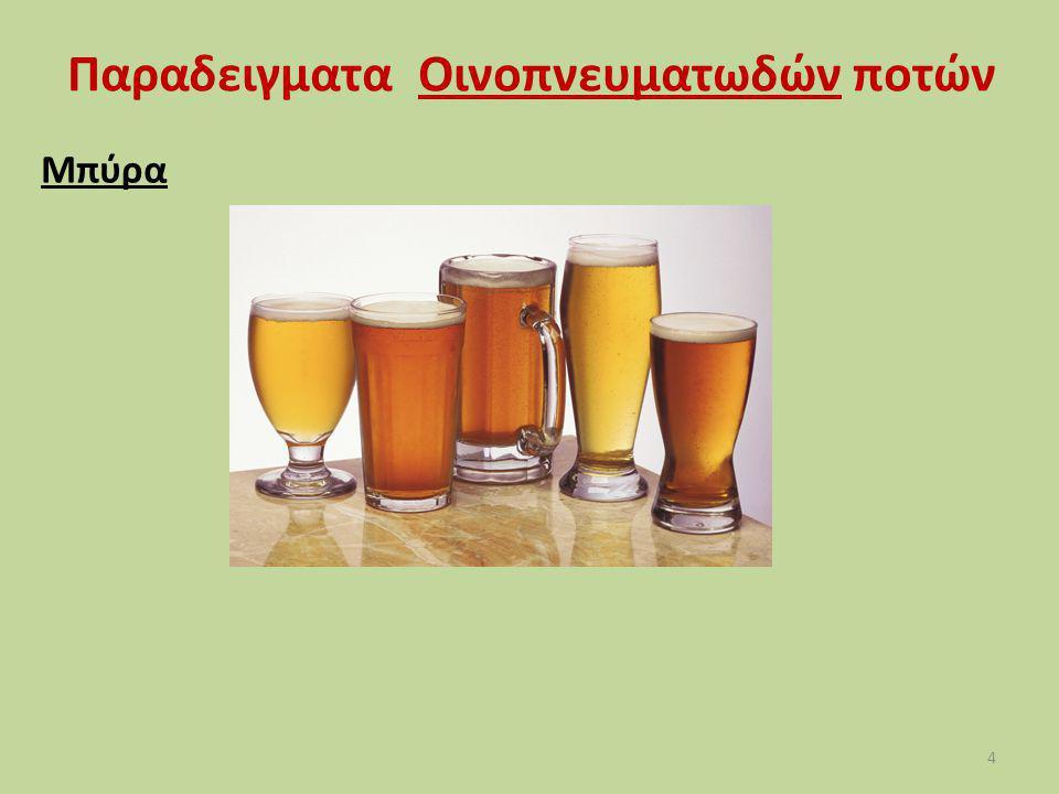 Παραδειγματα Οινοπνευματωδών ποτών