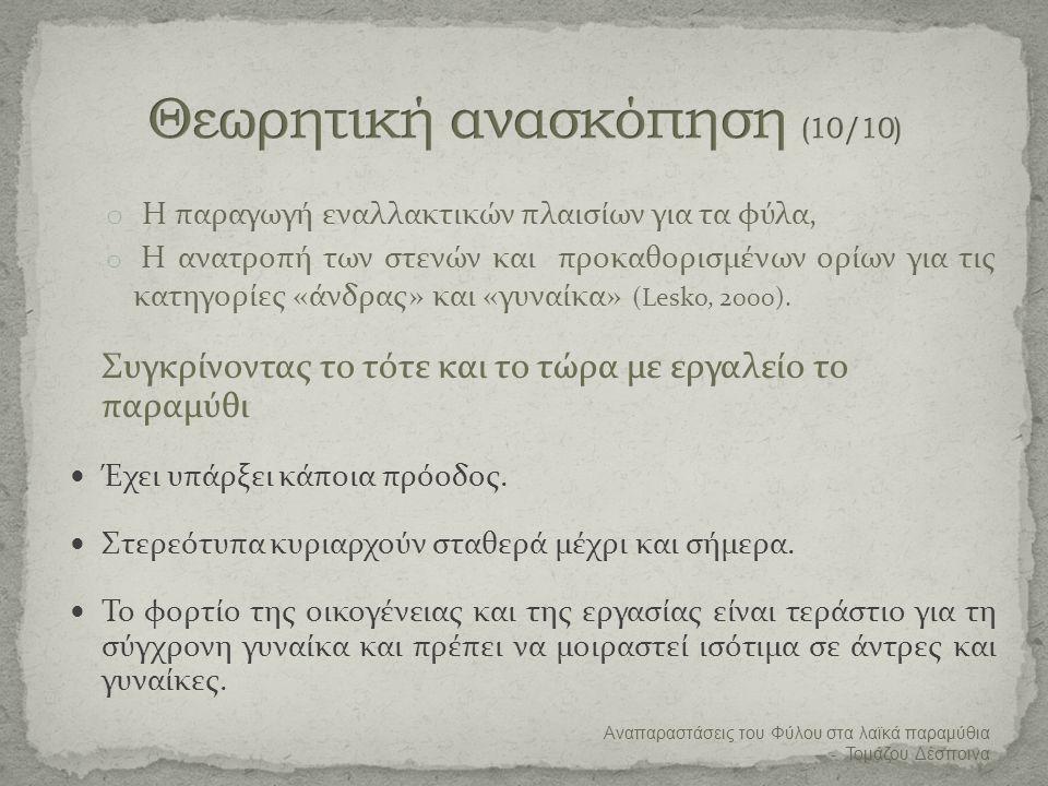 Θεωρητική ανασκόπηση (10/10)