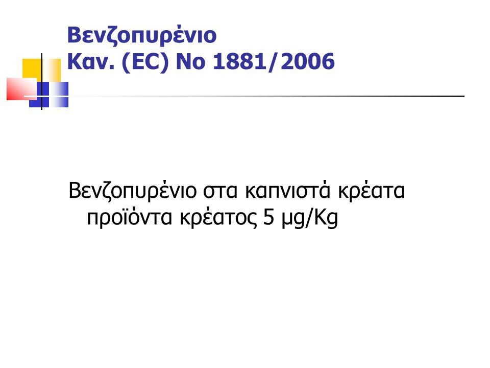 Βενζοπυρένιο Καν. (EC) Νο 1881/2006