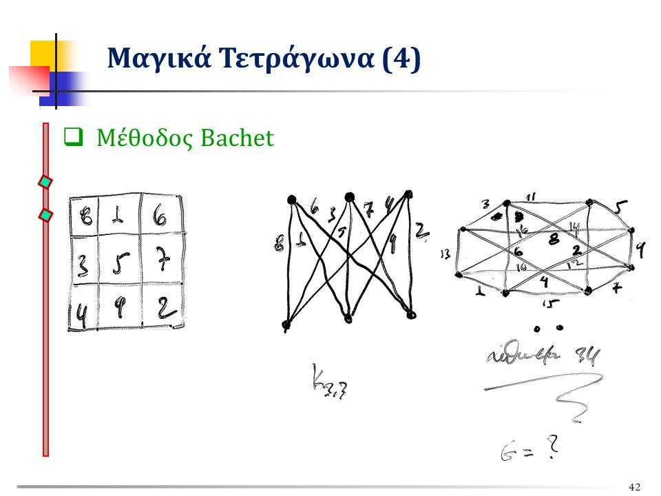 Μαγικά Τετράγωνα (4) Μέθοδος Bachet