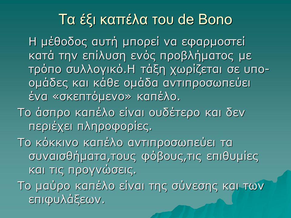 Τα έξι καπέλα του de Bono