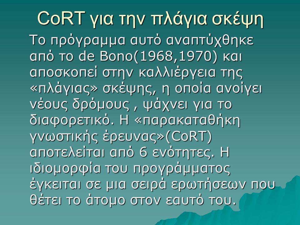 CoRT για την πλάγια σκέψη