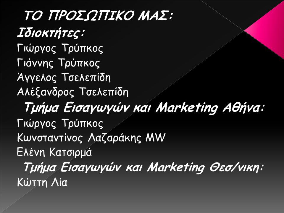 Τμήμα Εισαγωγών και Marketing Αθήνα: