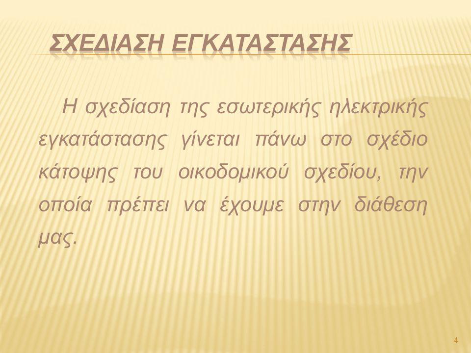 ΣΧΕΔΙΑΣΗ ΕΓΚΑΤΑΣΤΑΣΗΣ