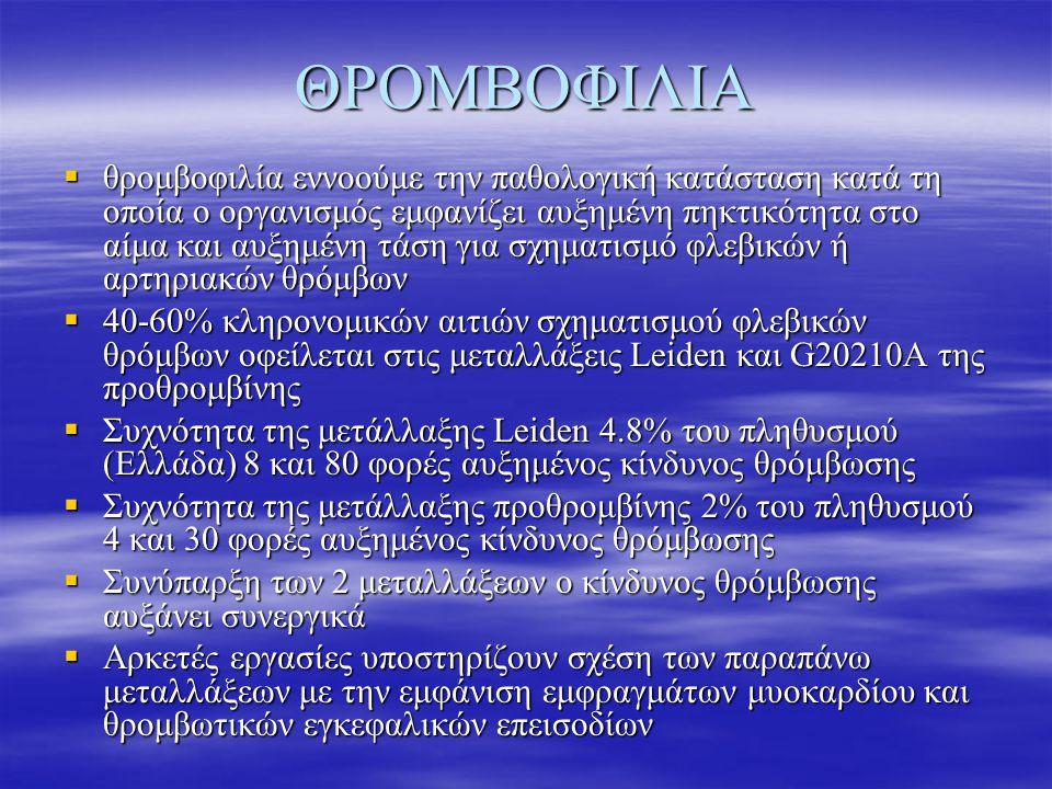 ΘΡΟΜΒΟΦΙΛΙΑ