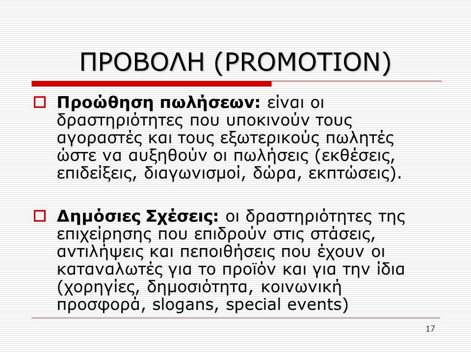 ΠΡΟΒΟΛΗ (PROMOTION)