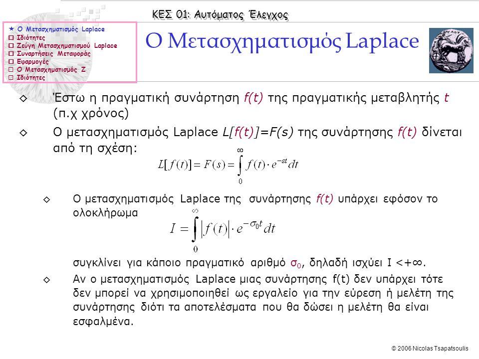 Ο Μετασχηματισμός Laplace