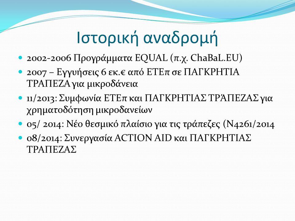 Ιστορική αναδρομή 2002-2006 Προγράμματα EQUAL (π.χ. ChaBaL.EU)