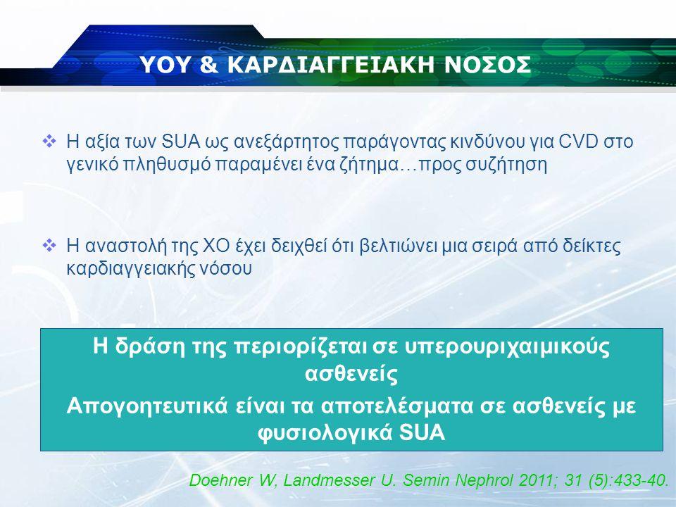 ΥΟΥ & ΚΑΡΔΙΑΓΓΕΙΑΚΗ ΝΟΣΟΣ