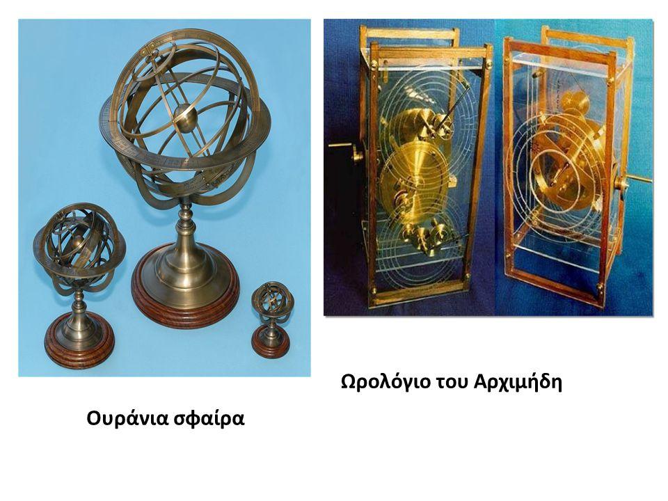 Ωρολόγιο του Αρχιμήδη Ουράνια σφαίρα