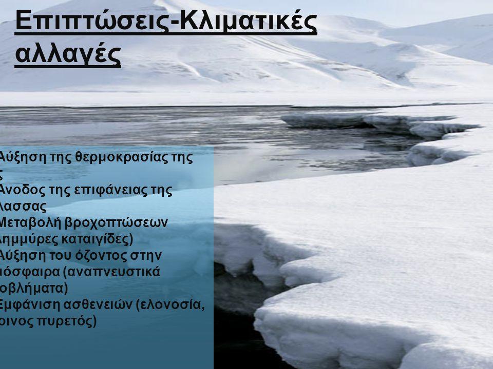 Επιπτώσεις-Κλιματικές αλλαγές