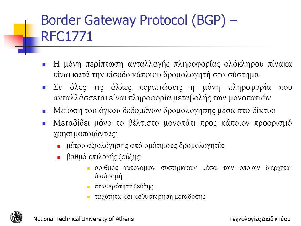 Border Gateway Protocol (BGP) – RFC1771