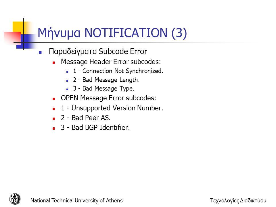 Μήνυμα NOTIFICATION (3)