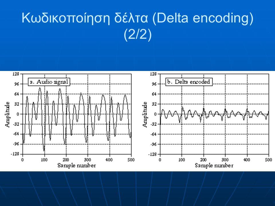 Κωδικοποίηση δέλτα (Delta encoding) (2/2)