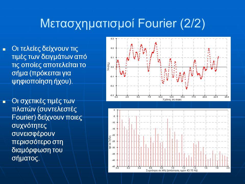 Μετασχηματισμοί Fourier (2/2)