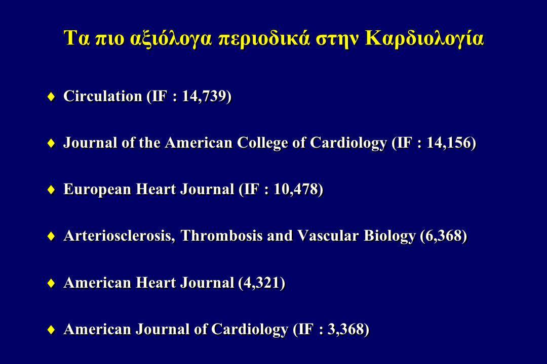 Τα πιο αξιόλογα περιοδικά στην Καρδιολογία
