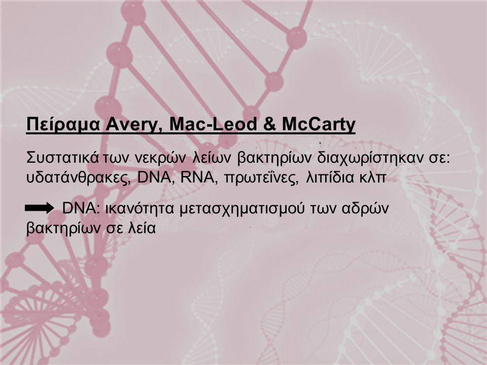 Πείραμα Avery, Mac-Leod & McCarty